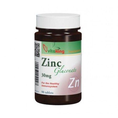 Vitaking Cink-glükonát 30mg tabletta 90 db