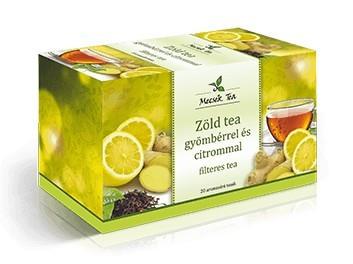 Mecsek Zöld tea gyömbérrel és citrommal 20x2g