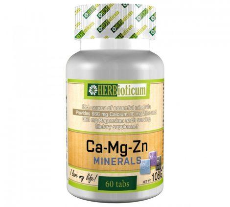 Herbioticum Ca+Mg+Zn étrend-kiegészítő tabletta kalciummal, magnéziummal és cinkkel 60 db