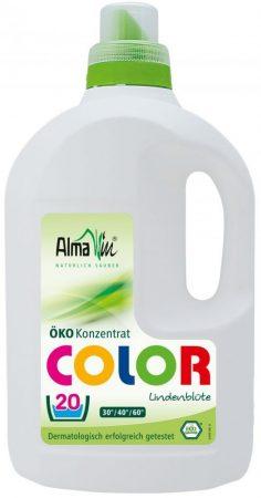 AlmaWin Öko Folyékony mosószer koncentrátum színes ruhákhoz, hársfavirág kivonattal 1500 ml