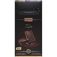 Mikado Exclusive Étcsokoládé 72% kakaóvaj tartalommal 100 g