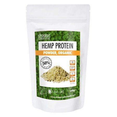 Dragon Superfoods Bio nyers kendermag fehérjepor 200 g