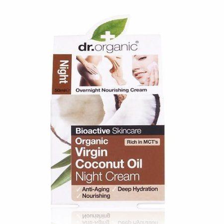 Dr. Organic Bio Kókuszolaj éjszakai krém 50 ml