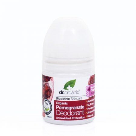 Dr. Organic Bio Gránátalma golyós dezodor 50 ml