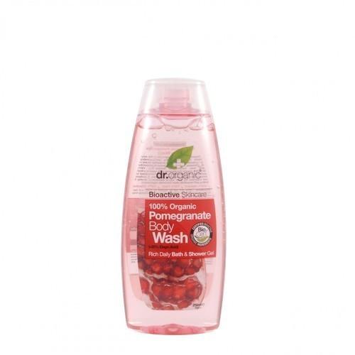 Dr. Organic Bio Gránátalma tusfürdő 250 ml - Paleowebshop