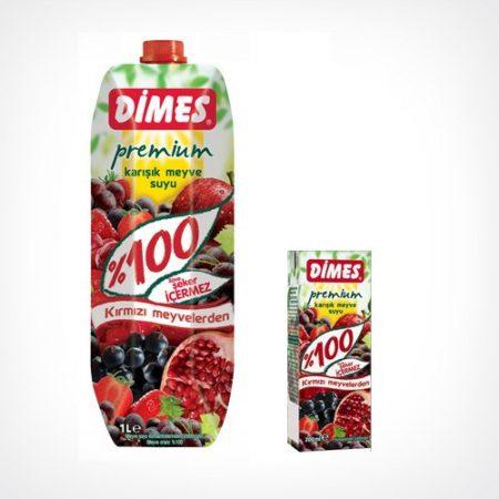 Dimes Prémium Vegyes gyümölcslé piros gyümölcsökből 100 % 1000 ml