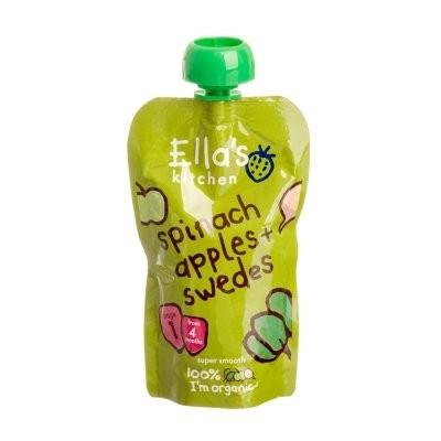 Ella's Kitchen Bio Spenót-alma-karórépa bébiétel 120 g