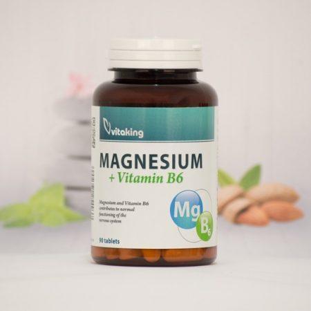 Vitaking Magnézium + B6-vitamin 90 db