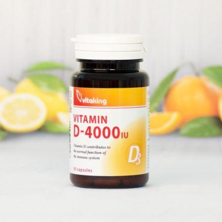 Vitaking D3-vitamin 4000NE 90 db