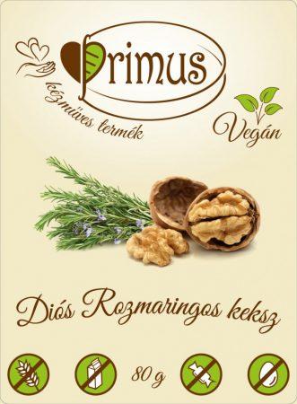 PRIMUS DIÓS-ROZMARINGOS GLUTÉNMENTES&VEGÁN KEKSZ 80G