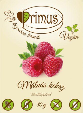 PRIMUS MÁLNÁS GLUTÉNMENTES & VEGÁN KEKSZ 80G